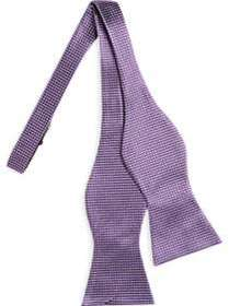 Tommy Hilfiger Purple Woven Check Bow Tie