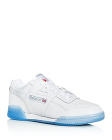 Reebok - Men's Workout Plus Leather Low-Top Sneake