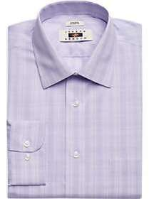 Joseph Abboud Purple Plaid Classic Fit Dress Shirt