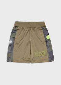 Armani Boys' fleece shorts with patterned bands