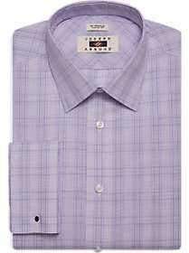 Joseph Abboud Lavender Plaid Classic Fit Dress Shi