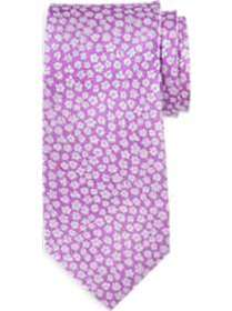 Egara Pink Floral Narrow Extra Long Tie