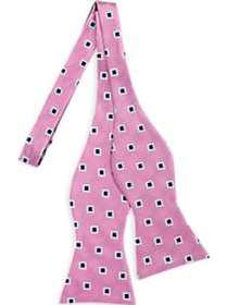 Tommy Hilfiger Pink Squares Bow Tie