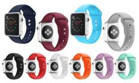 Soft Silicone Sports Replacement Band for Apple Wa