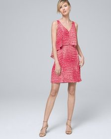 Abstract Popover Shift Dress