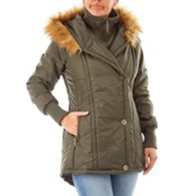 XOXO Junior Layered Puffer with Faux Fur Trimmed H
