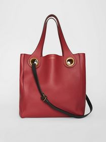 Burberry The Medium Leather Grommet Detail Tote in