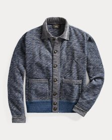 Ralph Lauren Indigo Cotton Terry Jacket