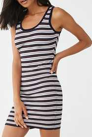 Forever21 Sleeveless Ribbed Striped Dress