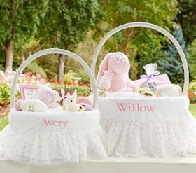 Pottery Barn Gold Dot Tulle Easter Basket Liners