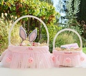 Pottery Barn Ribbon Flower Easter Basket Liners