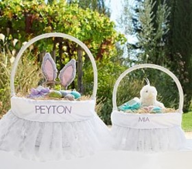 Pottery Barn Glitter Printed Easter Basket Liners