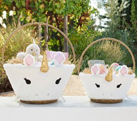 Pottery Barn Unicorn Easter Basket Liners