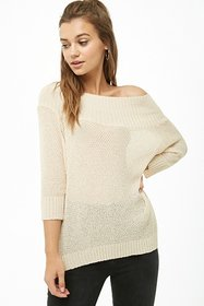 Forever21 Off-the-Shoulder Dolman-Sleeve Top