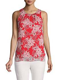 Vince Camuto Petite Floral-Print Sleeveless Top CR