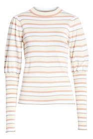 See By Chloe Stripe Puff Sleeve Sweater