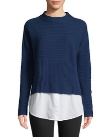 Neiman Marcus Cashmere Collection Cashmere Sweater