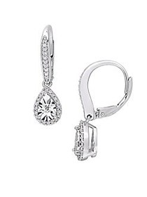 Sonatina 0.33 TCW Diamond and Sterling Silver Tear