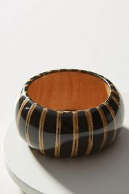 Anthropologie Striped Wooden Bangle Bracelet