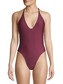 Mandalay Strappy One-Piece Swimsuit BURGUNDY