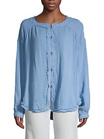 Free People Moving Mountains Blouse BLUE