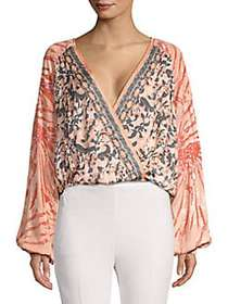 Free People Cruisin Together Printed Top NEUTRAL