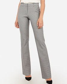 Express mid rise plaid barely boot curve pant
