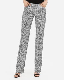 Express low rise barely boot houndstooth editor pa