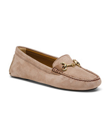 BOEMOS Made In Italy Suede Ornament Driver Loafers