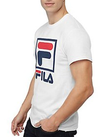 FILA Regular-Fit Heritage Stacked Graphic Tee WHIT