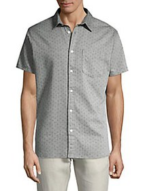 Selected Homme Stitched Button Front Shirt SMOKE