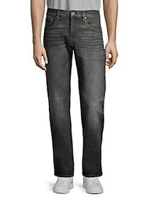 7 For All Mankind Straight-Leg Jeans BLACK