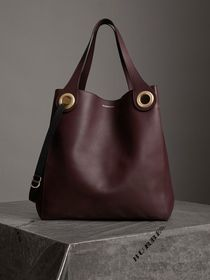 Burberry The Large Leather Grommet Detail Tote in