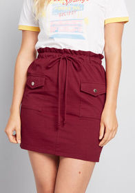 Have It All Knit Skirt deep red