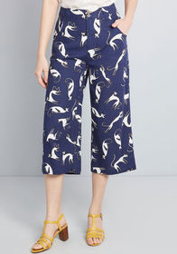 ModCloth ModCloth All In Cropped Wide-Leg Pants Na
