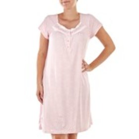 BODY TOUCH Floral Short Sleeve Nightgown