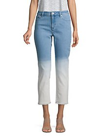 MICHAEL Michael Kors Cropped Ombre Jeans ANGEL BLU