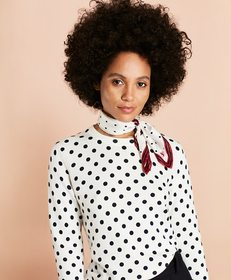 Brooks Brothers Polka-Dot Cotton Sweater