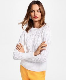 Brooks Brothers Cable-Knit Cotton Sweater