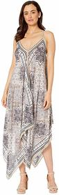 Vince Camuto Tile Ruffle Front Scarf Dress