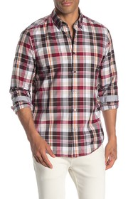 BOSS Lod Plaid Print Regular Fit Shirt