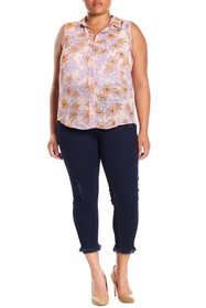 HUE High Waisted Front Lace-Up Jeggings (Plus Size