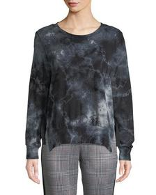Pam & Gela Tea-Stained Tie-Dye Slit Side Sweatshir