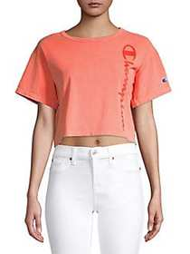 Champion Dyed Cotton Cropped Tee GROOVY PAPAYA