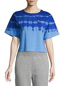Champion Streak Dye Cropped Tee ACTIVE BLUE