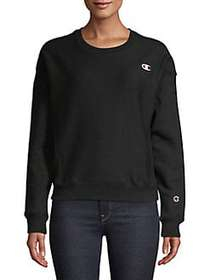 Champion Reverse Weave Crewneck Sweatshirt BLACK
