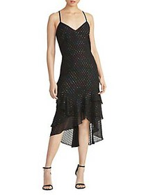 RACHEL Rachel Roy Justina Ruffle Slip Dress BLACK
