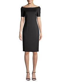 Calvin Klein Off-the-Shoulder Sheath Dress BLACK