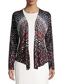 NIC+ZOE Grace Printed 4-Way Cardigan MULTI