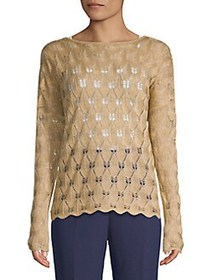 Finders Keepers Shimmer Knit Sweater GOLD